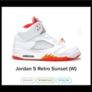8c2dfcb0eb2 Jordan Shoes   Air 5 Retro Sunset Size 115   Poshmark
